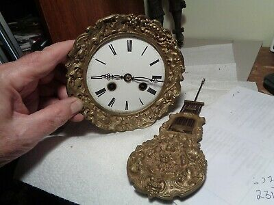 Antique-French-Portico-Clock Movement-Ca.1870-To Restore-#K10A