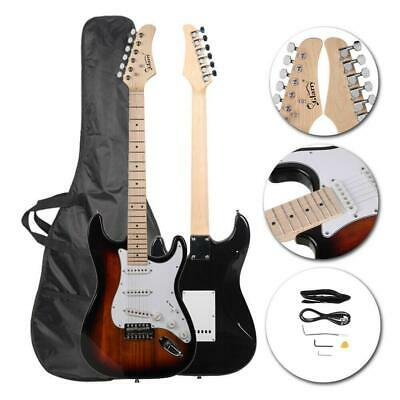 New 22 Frets Sunset Right-Handed Basswood Electric Guitar Set for Beginner