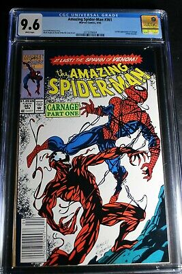 1992 Marvel Amazing Spider-Man #361 CGC 9.6 WP Newsstand 1st Carnage