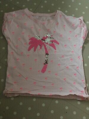 Gorgeous girls Sequin Palm Tree top from Dunnes Aged 9 years