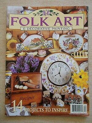 Folk Art & Decorative Painting Vol 6 #1~Clock~Flowers~Rosemaling~Teddy~Possum...