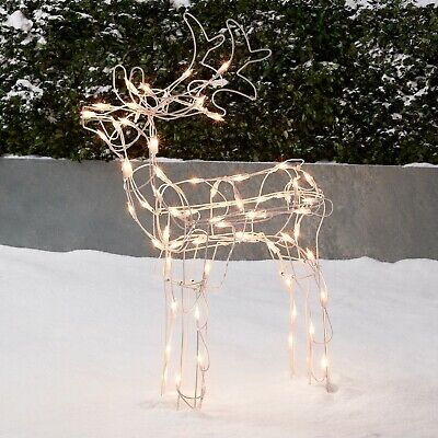 Led Prelit Lighted Grapevine Buck Reindeer Outdoor Christmas