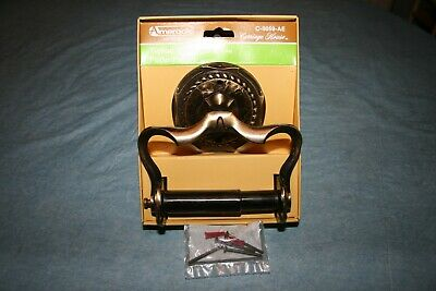 New Opened Amerock Carriage House Antique Brass Toilet Paper Holder Wall Mount