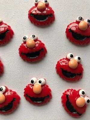 Red Monster Cute Flat back Embellishments Brand New