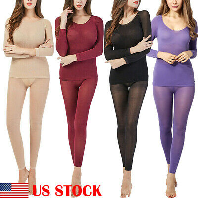Seamless Elastic Thermal Inner Wear Ultra-Thin Autumn Clothes Women Body Sh S6P8