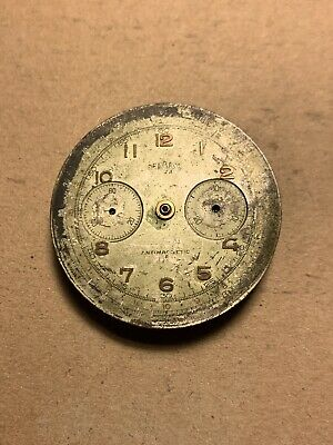 Landeron 48 Chronograph Not Working For Parts Repair Vintage Watch