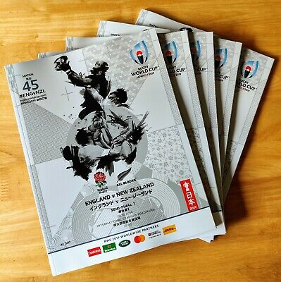 Rugby World Cup 2019 - England Vs. New Zealand Semi-Final Match Programme