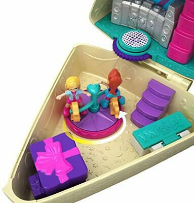 Polly Pocket GFM49 Birthday Cake Bash Compact, 2 Dolls and Accessories, Multicol
