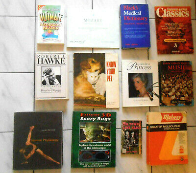 Vintage & Collectible Bulk Lot Of 12 Books All Up   *** Pick Up Only