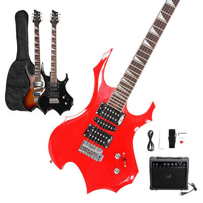 New Glarry School Student 6 Strings Electric Guitar with Bag AMP Accessories