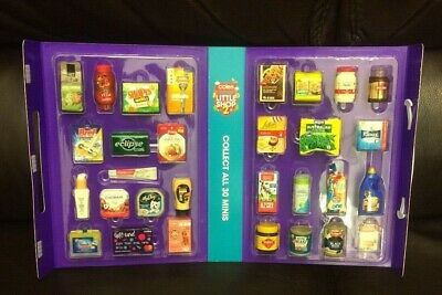 Coles Little Shop Mini Collectables 2><#><Brand New Set Of 30 Coles Minis & Case