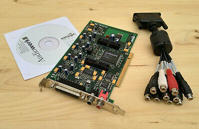 Vintage Emagic Audiowerk 8 PCI Soundcard; 2-In/8-Out; S/PDIF; for Windows & Mac