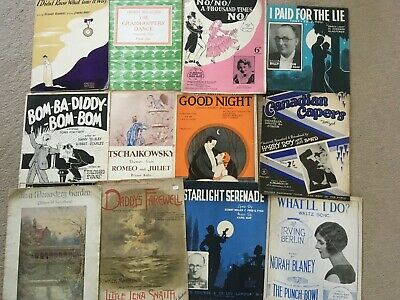 JOB LOT 5  sheet music pieces x 12 collectable sheet music   Bargain