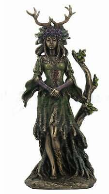 Guardian Goddess Of The Trees Sculpture Bronze Statue 10.04""
