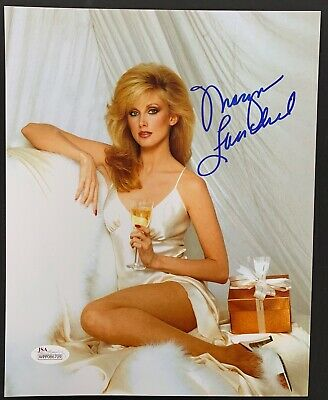 MORGAN FAIRCHILD SIGNED 8X10 Color Pinup Photo Long Legs In