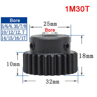 1 Mod 30T Precision Spur Gear,With Step Motor Pinion Transmission Gear 45# Steel