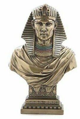 Egyptian Bust of Pharaoh Sculpture Bronze Art Bust statue 8.30""