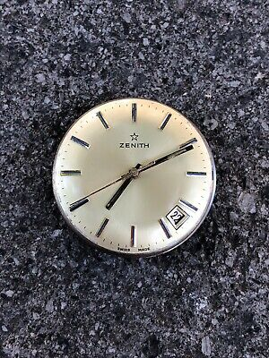 Zenith Automatic Movement Cal 2572 PC Not Working For Parts Repair Vintage Watch
