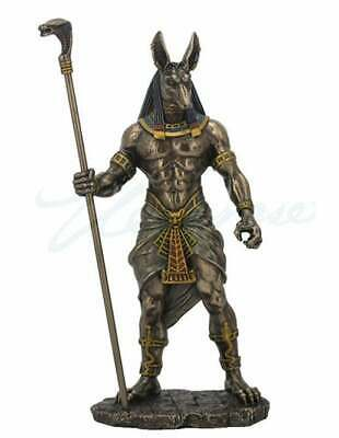 Egyptian God ANUBIS Sculpture Bronze Art Egyptian Bust Statue 11.03""