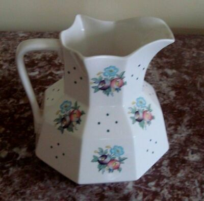 """COPELAND SPODE England 5-3/4"""" PITCHER JUG Octagonal Shape with Posies & Dots"""