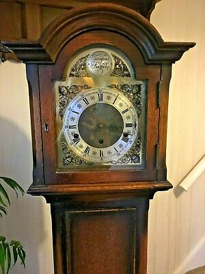 Tempus Fugit Grandmother Clock 1920's  with beautiful Westminster chimes.