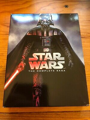 Star Wars: The Complete Saga (Blu-ray, 2015) 9 Disc Played Once - Fast Shipping!