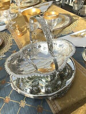 Antique English One Handle Ornate Silver Plate Basket – Mappin Brothers