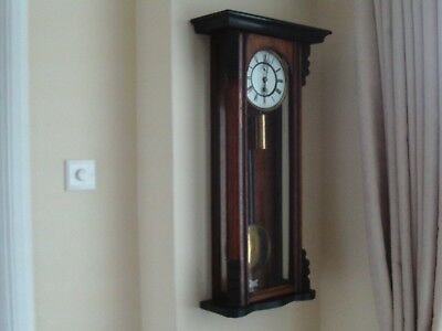 Vienna large wall clock good working order single weight key/pendulum as in pics