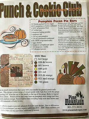 Pine Mountain Kit- Punch and Cookie Club- November kit and frame- OOP