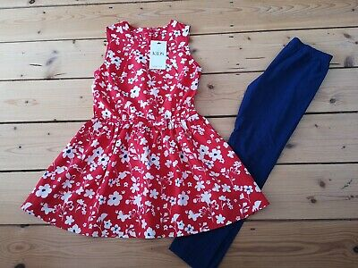 BNWT Marks And Spencer (M&S) Girls 2 Part Set, Age 8-9, leggings & top, rrp £22