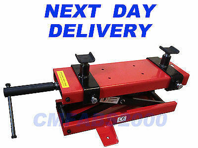 500kg Motorcycle Mini Lift, Scissor Lift Motorbike Bike Lift  + T-Bar Handle