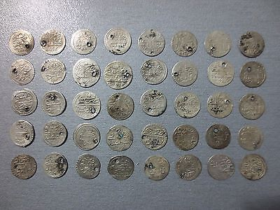 LOT of 40pcs QUALITY SILVER OTTOMAN TURKISH TURKEY ISLAMIC AKCE COINS RARE