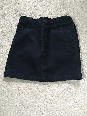 JoJo Maman Bebe Navy Blue Cord Skirt GIRL 5-6 YEARS.