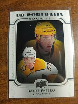 19-20 Upper Deck Series 1 UD Portraits Rookie Dante Fabbro ,Card #P-43