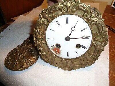 Antique-French- Portico Clock Movement-Ca.1870-To Restore-#K13A
