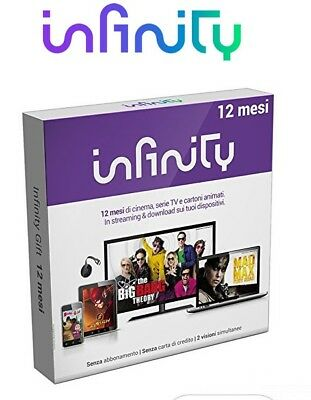 Voucher Infinity 12 mesi video netflix tv serie film