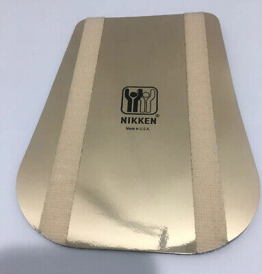 "Nikken Kenko Gold Back Flex 7.56"" X 5.55"" Promo Pad Magnet Used Demo"
