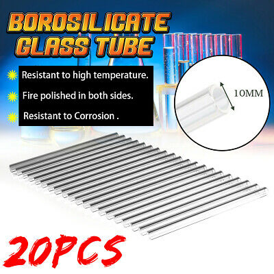 6 Types 300mm/125mm/150mm/100mm OD 10mm Borosilicate Glass Blowing Tube For
