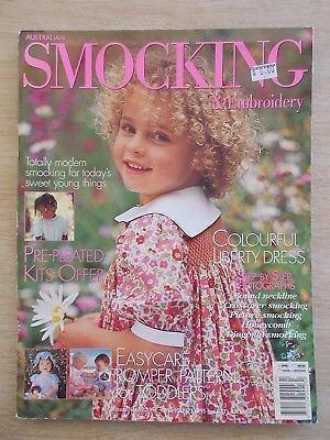 Australian Smocking & Embroidery #35~Dresses~Rompers~Liberty~Picture~Honeycomb..