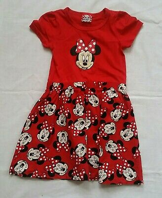 Girls Minnie Mouse red Mix Dress 4-5 Years