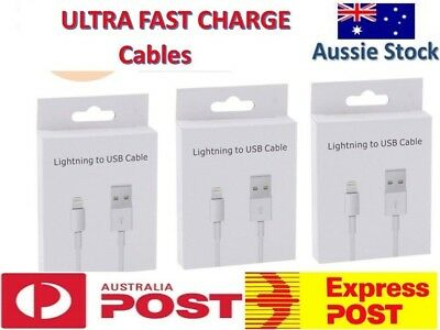 USB Lightning Charging Cable Data For Apple Charger iPhone iPad AU