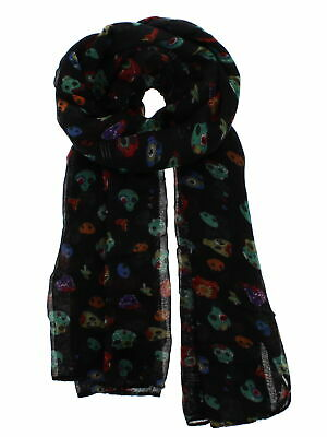 Zac's Alter Ego Long Lightweight Scarf with Multicolour Crazy Skulls
