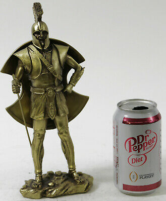 "Crusader Knight Statue Bronze Finishing Cold Cast Resin Statue 10.5"" Tall Statue"