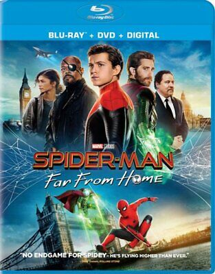 NEW! SPIDER-MAN FAR FROM HOME (BLU-RAY + DVD + DIGITAL) *PRE-SALE SHIPS by 11/30