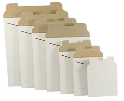 White Cardboard CD/DVD Mailers Envelope Stay Flat Rigid with Self Seal Flap