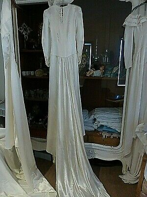 VINTAGE 1930's -1940's WEDDING DRESS - FOR STUDY ONLY