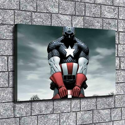 """12""""x20""""Captain America Marvel Canvas prints Painting Home decor Poster Room Wall"""
