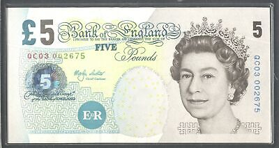 Lowther; Bank of England. 5 pounds. QC03 002675. (2003). (Duggleby; C171 type...