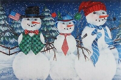 "Ronnie Bringle tole painting pattern ""Snow Buddies"""