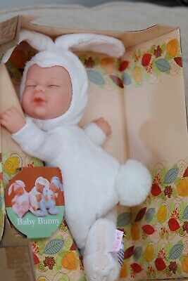 New Anne Geddes Baby 🐰🐰🐰Bunny Filled Soft Toy Doll White